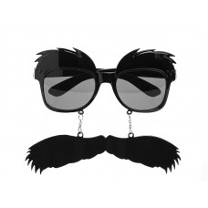 Glasses Eyebrows and Moustache