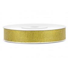 Glitter ribbon, gold, 10mm/25m