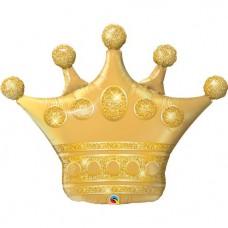 """Golden Crown Balloon - 41"""" Foil"""