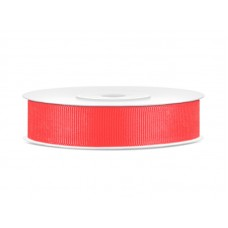 Grosgrain ribbon,  red-orange, 15mm/25m (1 pc. / 25 m)