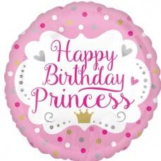 "Happy Birthday Princess Balloon - 18"" Foil"