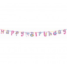 "Happy Birthday banner ""Rainbow Unicorn"", length 160 cm"