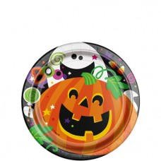 Happy Halloween Paper Plates - 18cm - 8pcs