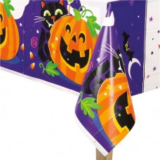 Happy Halloween Plastic Tablecover - 2.13m x 1.37m