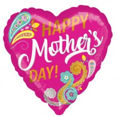 Happy Mother's Day Paisley Balloon - 45cm Foil