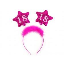 Headband with stars 18, pink