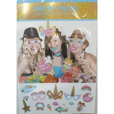 Unicorn photo props, 12pcs
