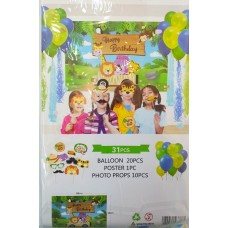 Party set with 31 pcs - Jungle