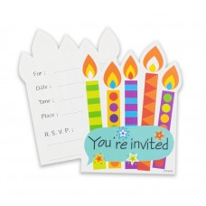 "Invitations ""Colourful party"", 6 invitations + 6 envelopes"