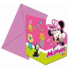 "Invitations ""Minnie Happy Helpers"" , 6 pcs"