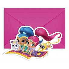 Invitations SHIMMER AND SHINE, 6 pcs