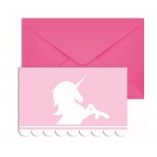 Invitations with Envelopes Believe in Unicorns, 6 pcs.