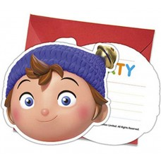 "Invitations with an envelope ""Noddy In Toyland"" 6 pcs"