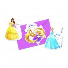 "Invitations with an envelope ""Princess Heartstrong"" 6 pcs"