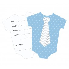 "Invitations with envelope ""Little boy"", blue, 6 pcs"