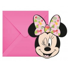 Invitations with envelopes Minnie Tropical Disney, 6 Pcs