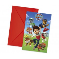 Invitations with envelopes Paw Patrol Ready for Action, 6 Pcs