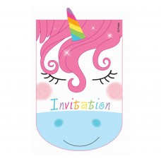"Invitations with envelopes ""Rainbow Unicorns"", 6 pcs"