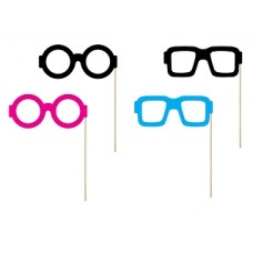 Props on a stick Monsters - Glasses, mix (1 pack / 4 pc.)