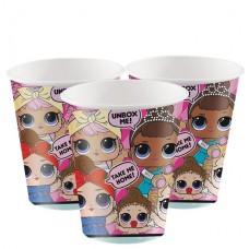 L.o.l Surprise Paper Cups - 256ml, 8pcs