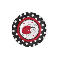Ladybug Plates, 18cm (1 pkt / 6 pc.)