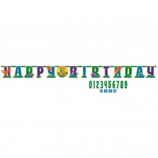 Letter Banner Dino Prehistoric Party Paper Personalizable 323 x 25.4 cm
