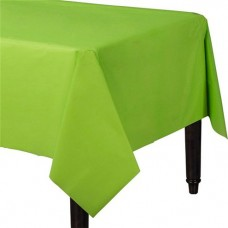 Lime Green Plastic Tablecover - 1.4m x 2.8m