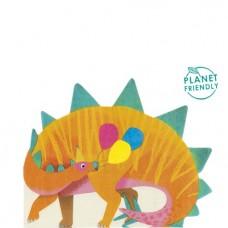 Little Party Dino Shaped Napkin 16pcs -33cm x 26cm