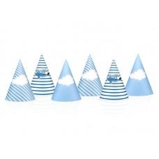 Little Plane Party Hats, mix, 10cm (1 pkt / 6 pc.)