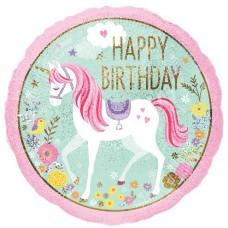 "Magical Unicorn 'happy Birthday' Balloon - 18"" Foil"