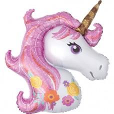 "Magical Unicorn Supershape Balloon - 33"" Foil"