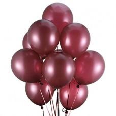 Strong Balloons 27cm, Metallic Maroon (1 pkt / 10 pc.)