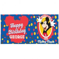 Micky Mouse Giant Personalised Banner - 1.2m x 45cm