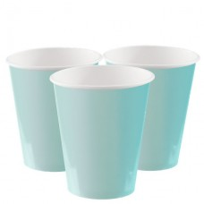 Mint Green Cups - 270ml Paper Party Cups, 8pcs