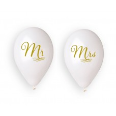 "Mr. & Mrs. balloons 13"" / 4 pcs."