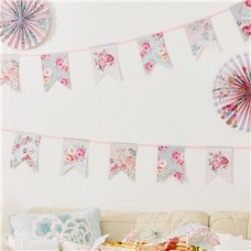 Truly Romantic Vintage Paper Bunting  - 4m