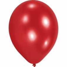 10 Latex Balloons Red 20.3 cm/8''
