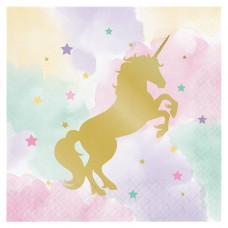 Unicorn Sparkle Luncheon Napkins - 3ply 16pc