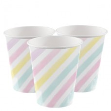 8 Unicorn Sparkle Cups - 256ml