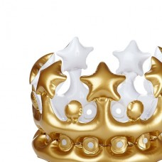 Adult's Inflatable Gold Crown