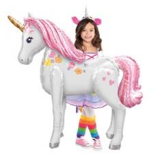 "Magical Unicorn Airwalker Balloon - 46"" Foil"