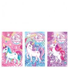 Unicorn Notebook 5.5cm x 9cm 1 pc