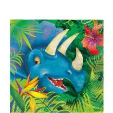 16 Dinosaur Adventure Napkins - 33cm Paper Napkins