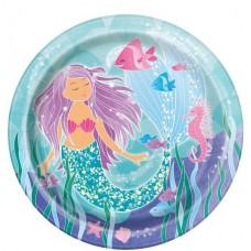 8 Magical Mermaid Paper Plates - 22cm