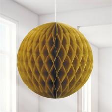Gold Honeycomb Ball Decoration - 20cm