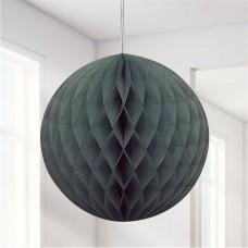 Black Honeycomb Ball Decoration - 20cm