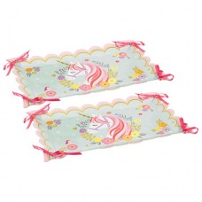 2 Magical Unicorn Paper Serving Trays