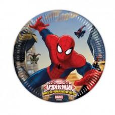 Plates Spiderman 8pcs 19.5cm