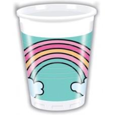 Cups Rainbow 8pcs 220ml