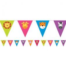 Animal Friends Pennant Banner - 4m